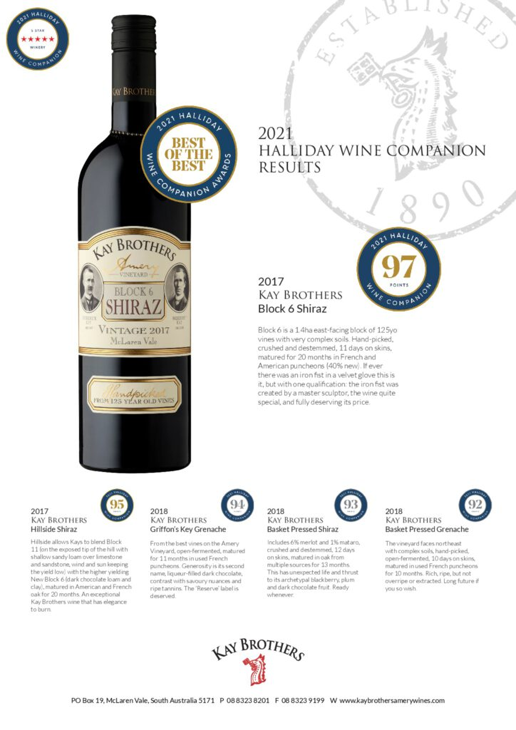 2021 Halliday Wine Companion Results